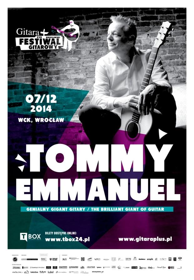 Tommy Emmanuel koncer Wrocław 7.12.2014